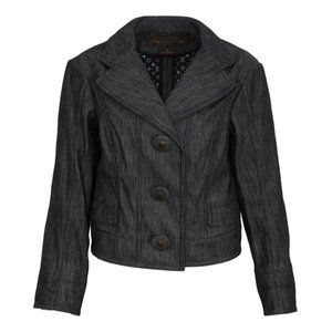 Louis Vuitton Cropped Cinched Waist Denim Blazer